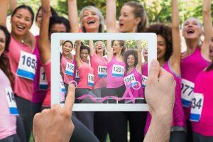 Fun Rub for Breast Cancer Selfie